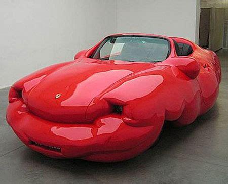 by erwin wurm fat car the bigger the better artist makes fat cars geekologie