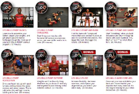 a review of the les mills workout dvd program