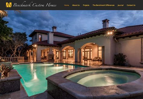 benchmark custom homes web design