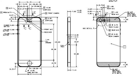 iphone  fully dimensioned design drawing      imore