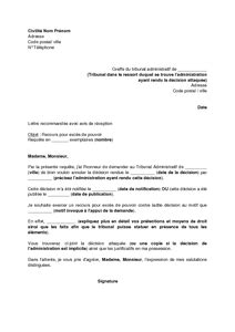 Modele Lettre Administrative Justice