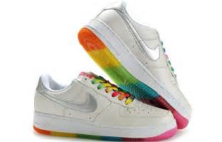 colorful air ones october 2011 rainbow nike shoes air one rainbow