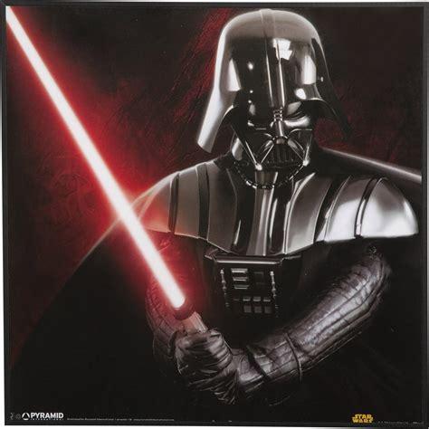 Affiche contre collée Star wars dark vador l.30 x H.30 cm