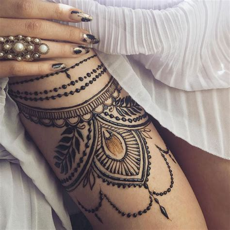 henna tattoo thigh 40 gorgeous henna ideas from intricate to elaborate