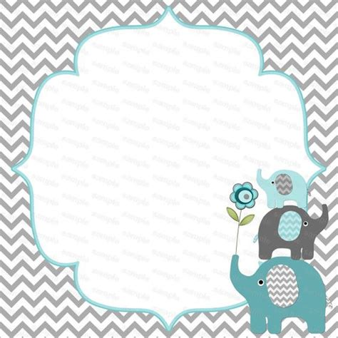 blank for boy baby shower elephant baby shower by - Free Printable Elephant Baby Shower Invitations
