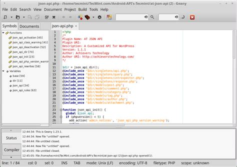 geany templates 18 best ides for c c programming or source code editors