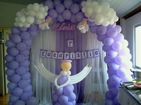 regala ilusiones 2015 decoraci 243 n de bautizo con globos y mesas globos para confirmacion 193 ngel morado decoraci 243 n globo bautizo
