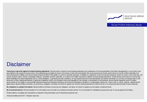 deutsche boerse ag adr 2016 q4 results earnings call