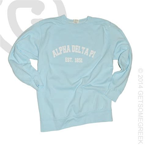 comfort colors chambray pin by getsomegreek on alpha delta pi custom board pinterest