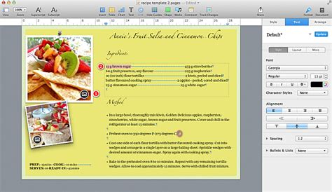 cookbook template for apple pages how to create a pages template