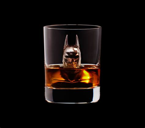 whiskey cocktail photography chill your whisky with geeky miniature sculptures