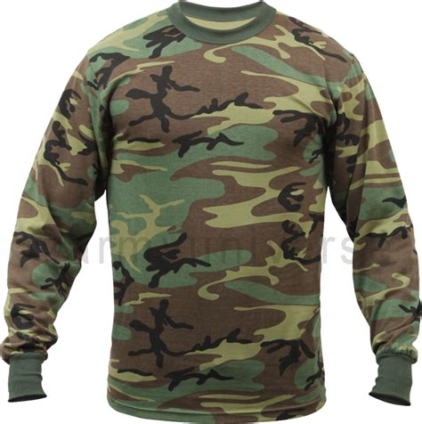 Camouflage Sleeve Shirt woodland camouflage sleeve t shirt tactical