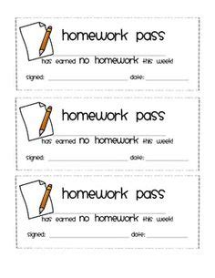 free homework pass template gallery for gt no homework coupon printable free