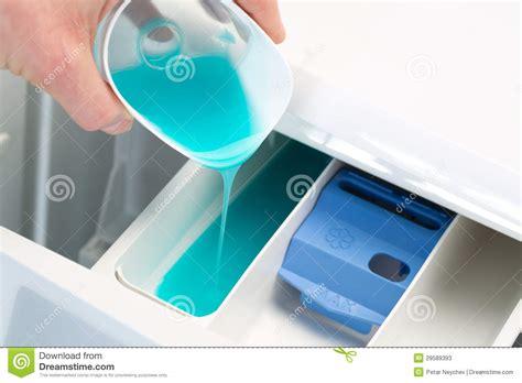 Washing Detergent And Washing Machine Stock Image Image Where To Put Laundry