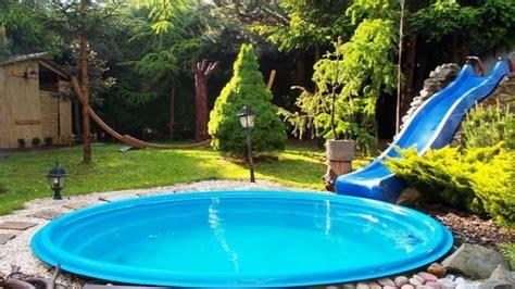 modern backyard cheap backyard pool ideas on a budget