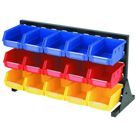 organization bins 15 bin storage rack