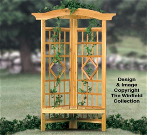 news and article garden arbor woodworking plans all yard garden projects corner trellis bench