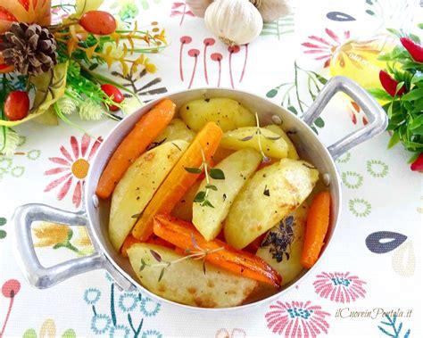 come cucinare le carote al forno patate e carote al forno ricette contorni il cuore in