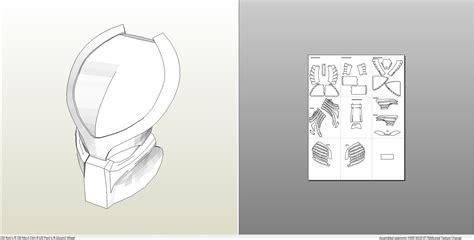 paper helmet template pepakura helmet templates www topsimages