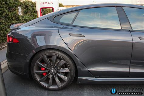 unplugged performance side skirt set for tesla model s
