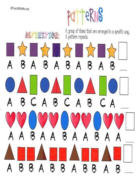 pattern in maths worksheet patterns in math debnamcareyweb worksheets for