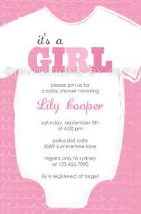 pink onesie baby shower invitations invitations by ruth
