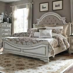 fabric headboard bedroom set liberty furniture magnolia manor queen upholstered bed