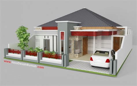 desain rumah sederhana modern terlihat elegan