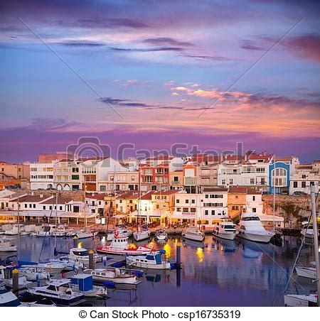 boat graphics ta stock photography of ciutadella menorca marina port sunset