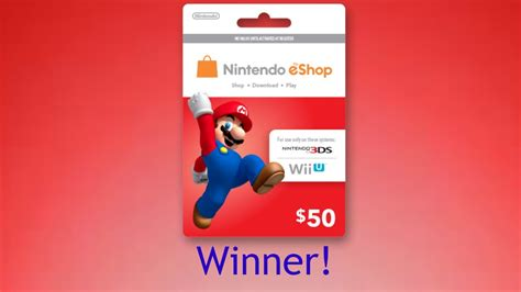 Eshop Card Giveaway 2016 - 50 eshop gift card giveaway winner youtube