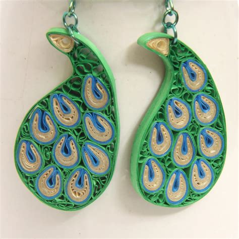 quilling paper earrings tutorial in tamil peacock paisley niobium earrings modern honeysquilling