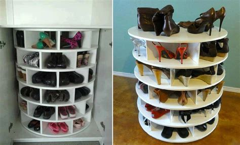 shoe rack diy plans lazy susan shoe storage plans diy cozy home