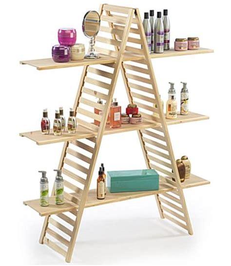 a frame bookshelves a frame shelf pine wood with 3 tiers