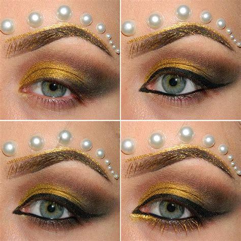 eyeliner tutorial romana greek golden goddess halloween makeup tutorial
