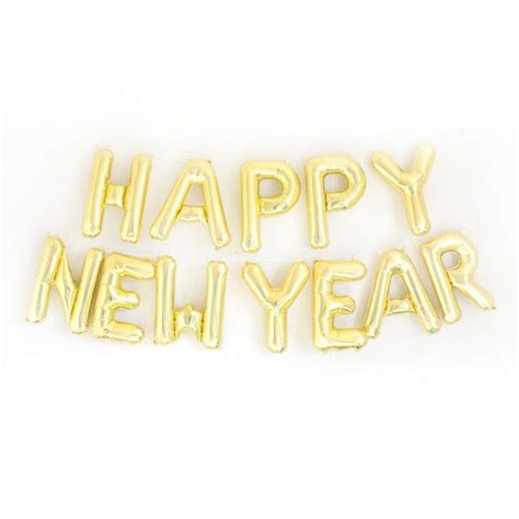 new year gold add our happy new year gold or silver mylar letter