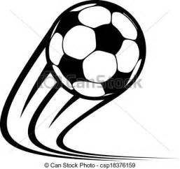 clipart vector of zooming soccer ball flying through the