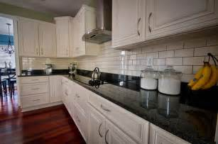 backsplash for black and white kitchen beautiful kitchen white cabinets black granite subway