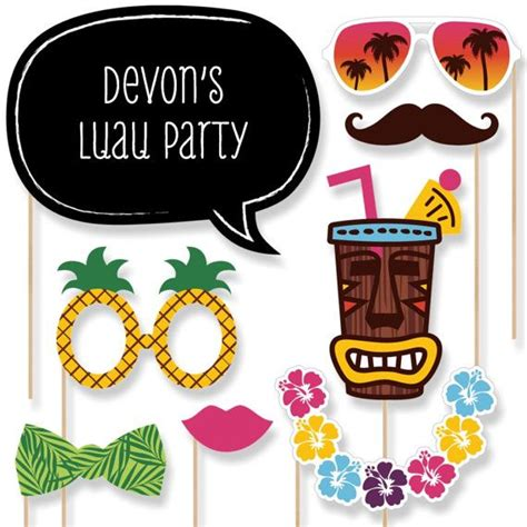 printable luau photo booth props the 25 best luau photo booths ideas on pinterest