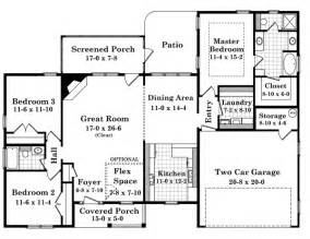 1700 Square Foot House Plans Traditional Style House Plans 1700 Square Foot Home 1