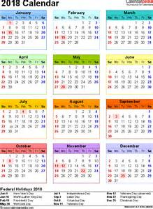 Malta Kalendar 2018 2018 Calendar With Federal Holidays Excel Pdf Word Templates