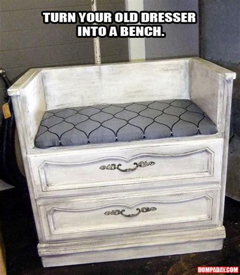 How To Make A Dresser Into A Bench a turn an dresser into a bench dump a day