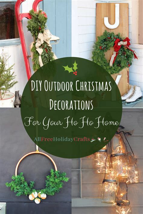 diy outdoor christmas decorations   ho ho home