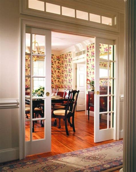 Living Room Glazed Doors Pocket Doors Between Living Room And Kitchen Or Between