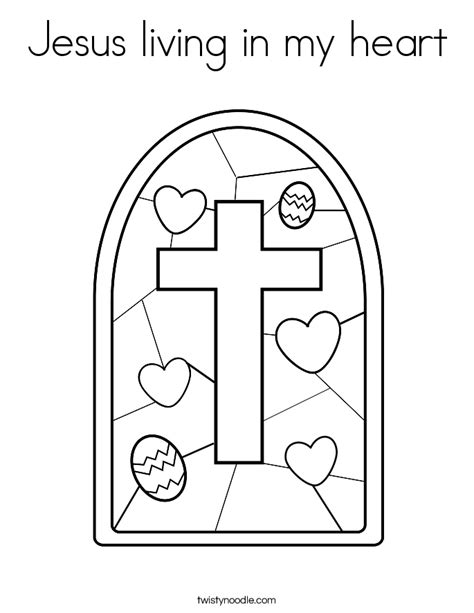 jesus heart coloring page jesus living in my heart coloring page twisty noodle