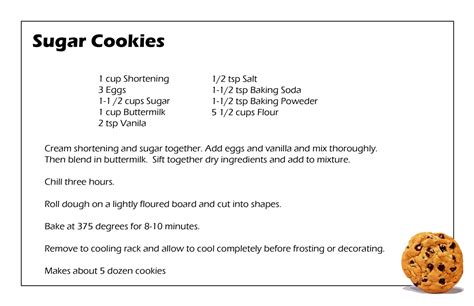 printable recipes for sugar cookies cookies for breakfast pizza for dessert