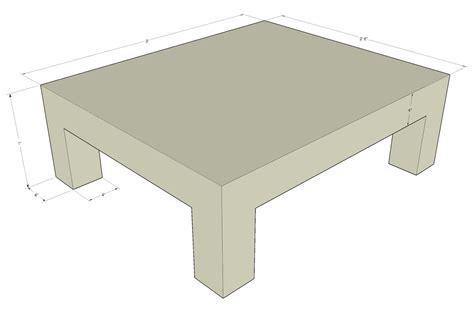 coffee table size indelink
