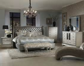 Bedroom Set Aico Swank Upholstered Bedroom Set