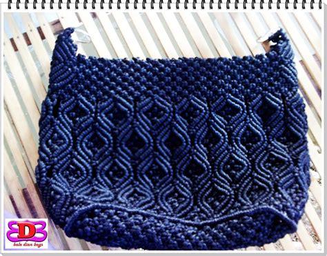 cara membuat tas tali kur dari awal sai selesai hom house of macrame kreasiku info 0818611786