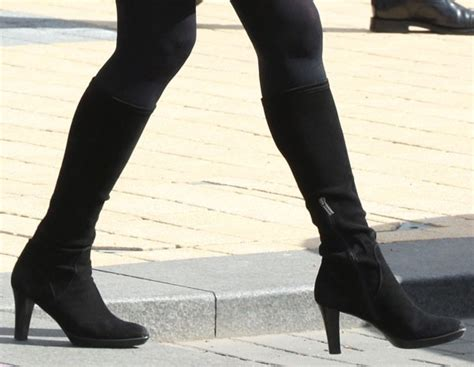 kate middleton and conservative in knee high black