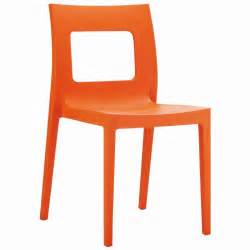 orange dining chairs lucca outdoor dining chair orange isp026 cozydays